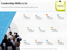 Leadership Skills Energetic Ppt Powerpoint Presentation Ideas Picture