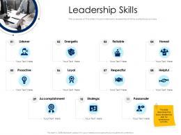 Leadership Skills Leaders Vs Managers Ppt Powerpoint Presentation Summary Deck