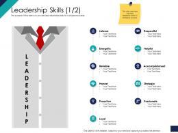Leadership Skills Loyal Ppt Powerpoint Presentation File Background Designs