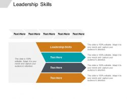 Leadership Skills Ppt Powerpoint Presentation File Skills Cpb