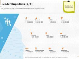 Leadership Skills Strategic Ppt Powerpoint Presentation Summary Infographics