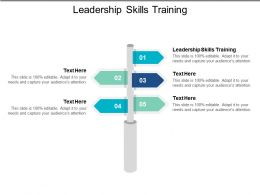 Leadership Skills Training Ppt Powerpoint Presentation File Graphics Template Cpb