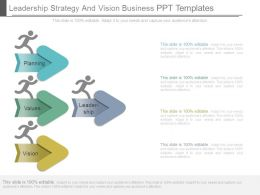 Leadership Strategy And Vision Business Ppt Templates