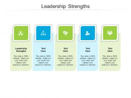 Leadership Strengths Ppt Powerpoint Presentation Model Graphic Tips Cpb
