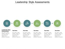 Leadership Style Assessments Ppt Powerpoint Presentation Outline Example Introduction Cpb