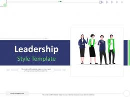 Leadership Style Template Mckinsey 7s Strategic Framework Project Management Ppt Pictures