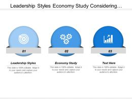 Leadership Styles Economy Study Considering Business Level Strategies