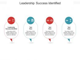 Leadership Success Identified Ppt Powerpoint Presentation Model Layout Ideas Cpb