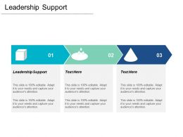 Leadership Support Ppt Powerpoint Presentation Infographics Styles Cpb