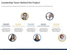 Leadership Team Behind The Project Communication Ppt Powerpoint Show Graphics