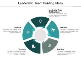 Leadership Team Building Ideas Ppt Powerpoint Presentation File Example Introduction Cpb