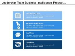 Leadership Team Business Intelligence Product Quality Evaluation Business Transformation
