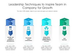 Leadership Techniques To Inspire Team In Company For Growth