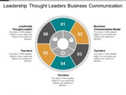 Leadership Thought Leaders Business Communication Model Nanotechnology Application Cpb