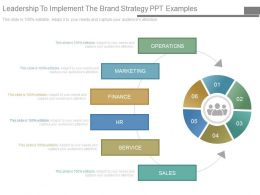 Leadership To Implement The Brand Strategy Ppt Examples