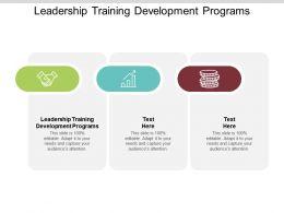 Leadership Training Development Programs Ppt Powerpoint Presentation File Graphics Tutorials Cpb