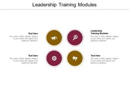 Leadership Training Modules Ppt Powerpoint Presentation Layouts Backgrounds Cpb