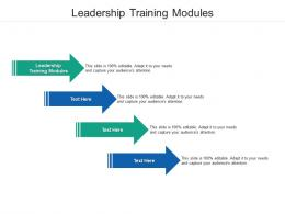 Leadership Training Modules Ppt Powerpoint Presentation Outline Infographics Cpb