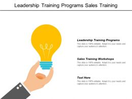 Leadership Training Programs Sales Training Workshops B2b Marketing Cpb