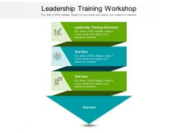 Leadership Training Workshop Ppt Powerpoint Presentation Layouts Shapes Cpb