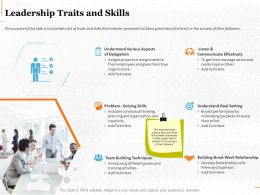 Leadership Traits And Skills Ppt Powerpoint Presentation Model Inspiration