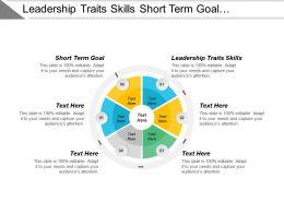 Leadership Traits Skills Short Term Goal Resource Planning