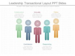 Leadership Transactional Layout Ppt Slides