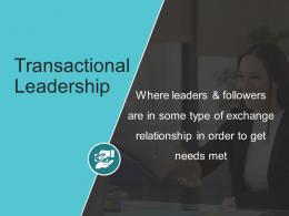 Leadership Transactional Leadership Ppt Powerpoint Presentation Summary Slide