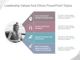 Leadership Values And Ethics Powerpoint Topics