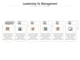 Leadership Vs Management Ppt Powerpoint Presentation Summary Display Cpb