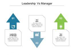 Leadership Vs Manager Ppt Powerpoint Presentation Model Master Slide Cpb