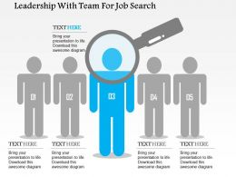 Leadership With Team For Job Search Flat Powerpoint Design