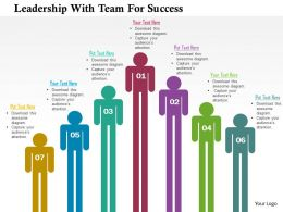 Leadership With Team For Success Flat Powerpoint Design