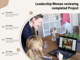 Leadership Woman Reviewing Completed Project