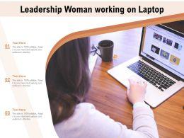 Leadership Woman Working On Laptop