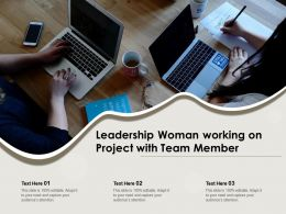 Leadership Woman Working On Project With Team Member