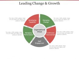 Leading Change And Growth Ppt Examples Professional