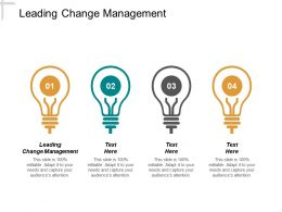 Leading Change Management Ppt Powerpoint Presentation Inspiration Visuals Cpb