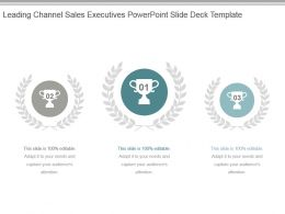 Leading Channel Sales Executives Powerpoint Slide Deck Template