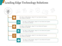 Leading Edge Technology Solutions Ppt Examples Slides