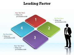 leading factor matrix with business man silhouette slides presentation diagrams templates powerpoint info graphics