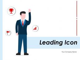 Leading Icon Manager Depicting Marketplace Illustrating Entrepreneur Growth