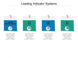 Leading Indicator Systems Ppt Powerpoint Presentation Ideas Download Cpb