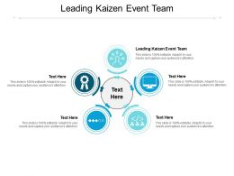 Leading Kaizen Event Team Ppt Powerpoint Presentation Professional File Formats Cpb