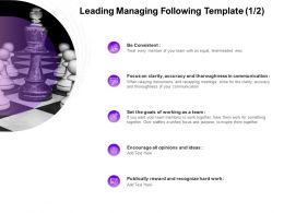 Leading Managing Following Communication Ppt Powerpoint Presentation Styles Ideas