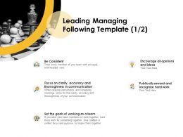 Leading Managing Following Team Ppt Powerpoint Presentation Slides