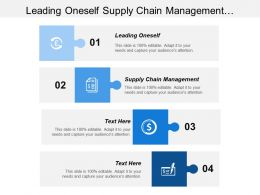 Leading Oneself Supply Chain Management Developing Customer Interactions