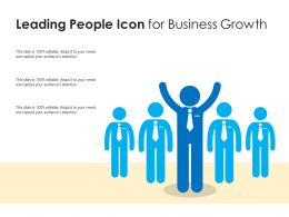 Leading People Icon For Business Growth