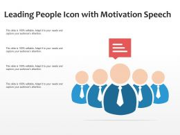 Leading People Icon With Motivation Speech