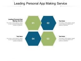 Leading Personal App Making Service Ppt Powerpoint Presentation Slides Background Cpb